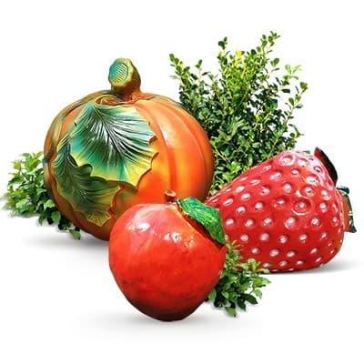 Пластиковые овощи, грибы и фрукты