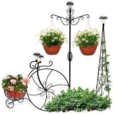 Подставки садовые с фонарем