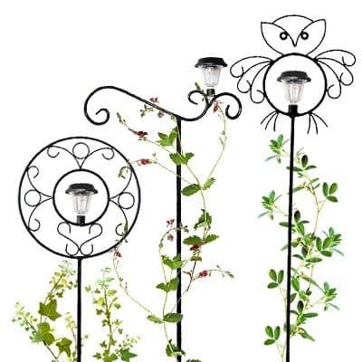 Опора для вьющихся растений с фонарем