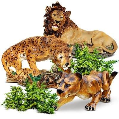 Зоопарк - животные из пластика