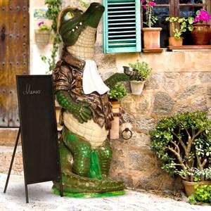 Фигура крокодил для рекламы бизнеса