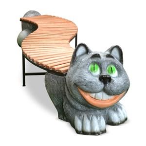 Скамейка для дачи Кот