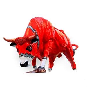 рекламная фигура бык красный