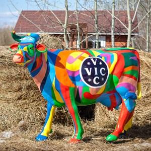рекламная фигура коровы