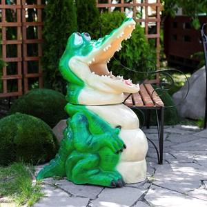 Крокодил урна для парка