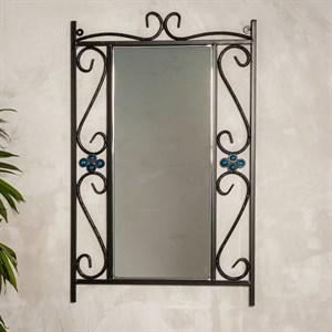 Зеркало настенное кованая рама