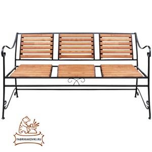 Скамейка садовая со спинкой за 6300 руб.